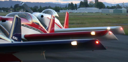 Here 3 gorgeous RVs show off their Duckworks Landing Lights. Mike Wilson - RV4, Randall Henderson - RV6, Randy Lervold - RV-8